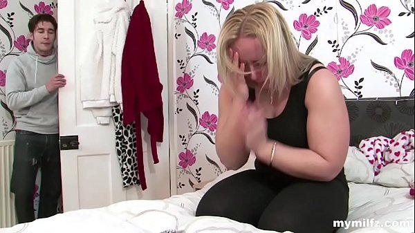 stepmom hotel porn was upset and crying on the bed the son offered to brighten up the evening and fuck