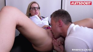 stepmom milf pornl Has Intense Sex With Teacher